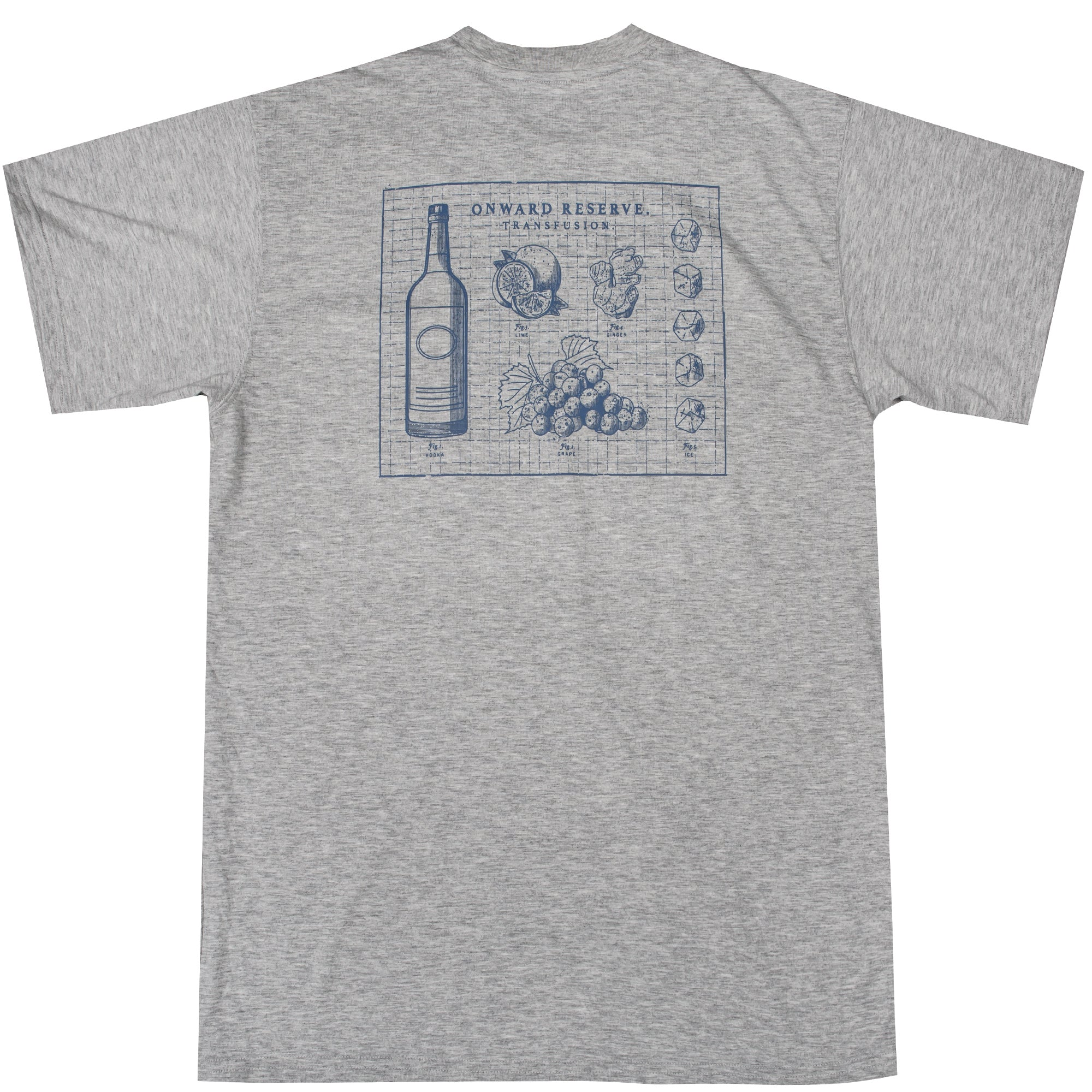 Transfusion Short Sleeve Tee- Heather Grey