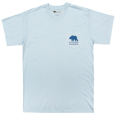 Transfusion Short Sleeve Tee- Heather Cashmere Blue