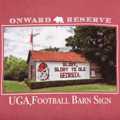"UGA ""Glory"" Barn Sign SS Tee - OnwardReserve"
