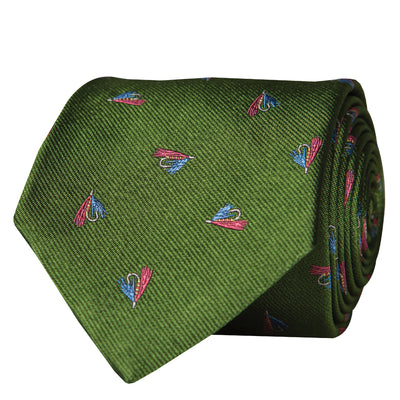 Gone Fishing Woven Neck Tie