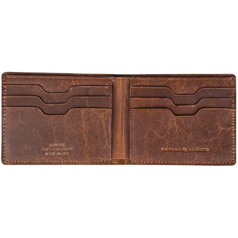 Shrunken Bison Slim Wallet