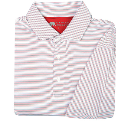 Tour Stripe Performance Polo - Red/Black