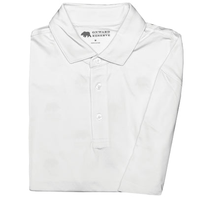 Solid Performance Polo - White