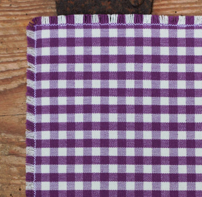 Purple Gingham Pocket Square - OnwardReserve