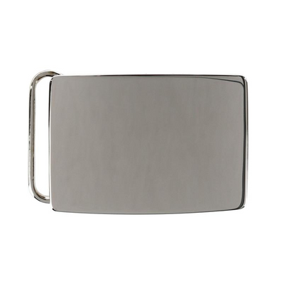 "Rhodium over Sterling Silver 1 3/16"" Buckle"