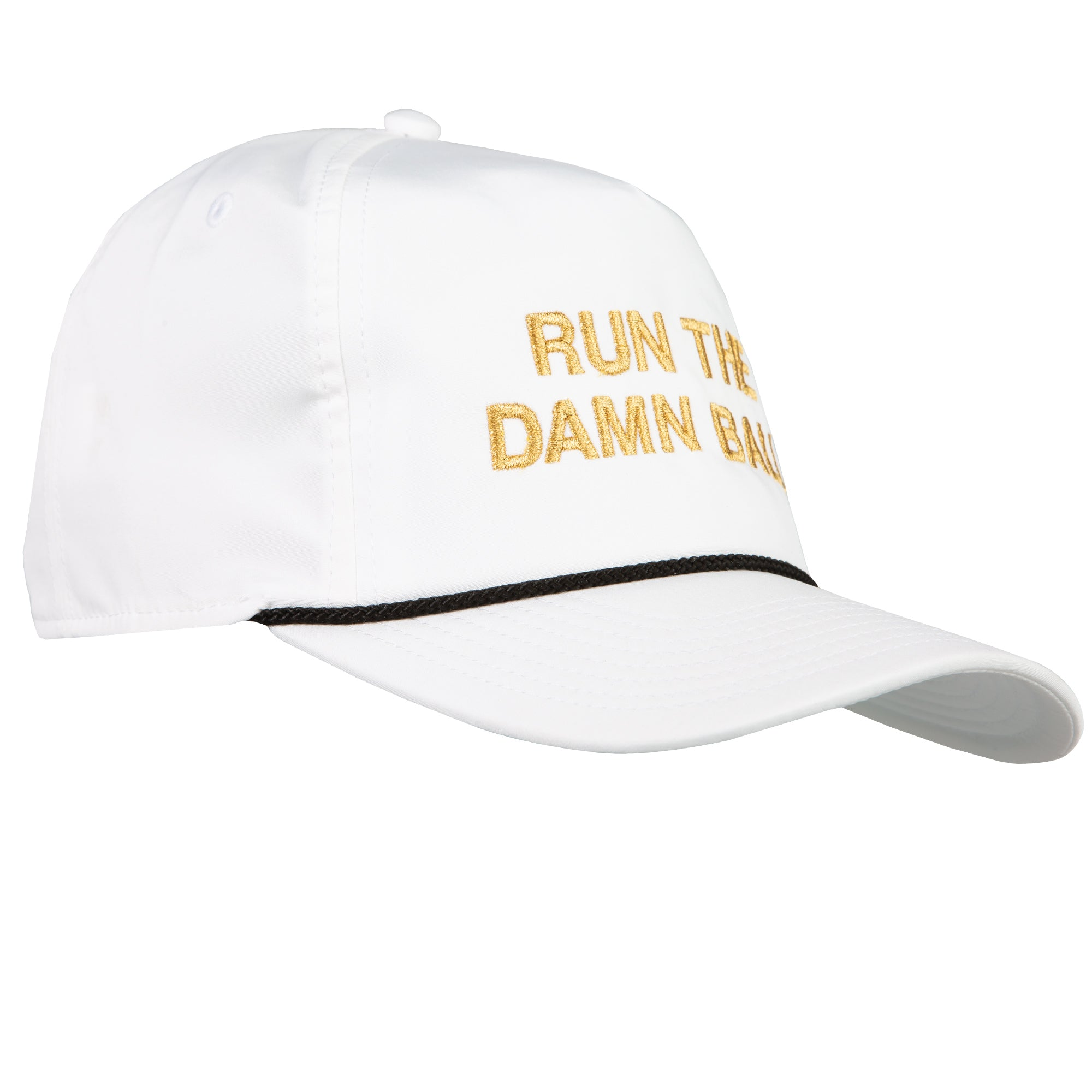 Black/Gold Run The Damn Ball Rope Hat - OnwardReserve