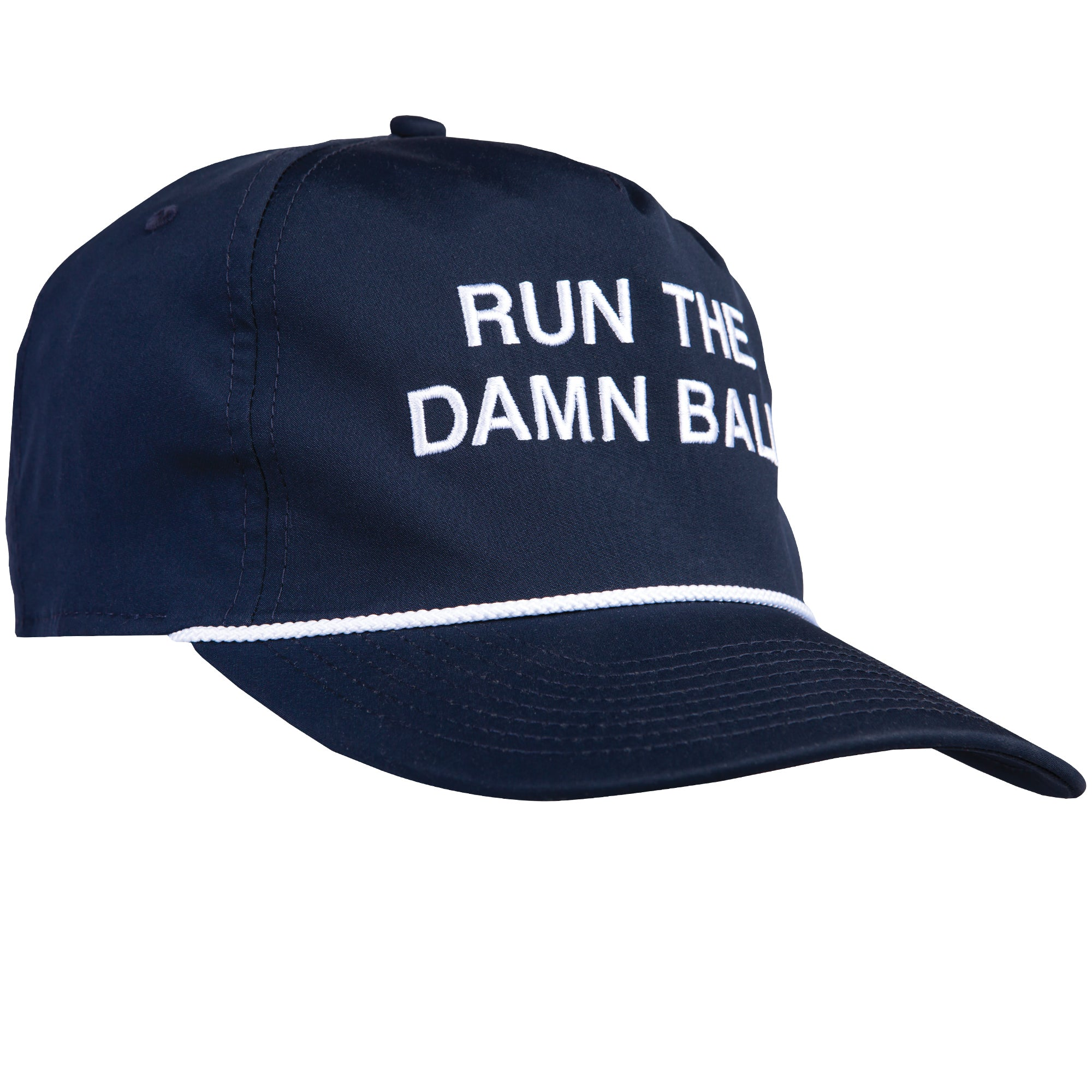 Navy/White Run The Damn Ball Rope Hat - OnwardReserve