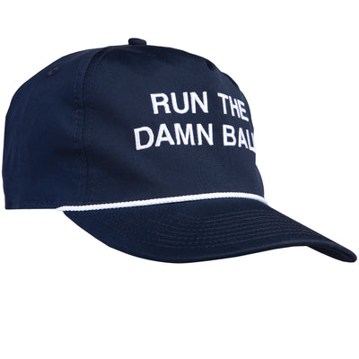 Navy/White Run The Damn Ball Rope Hat