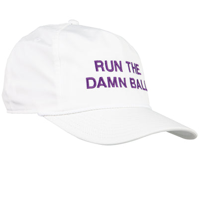 Purple Run The Damn Ball Rope Hat