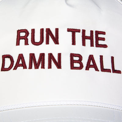 Maroon Run The Damn Ball Rope Hat