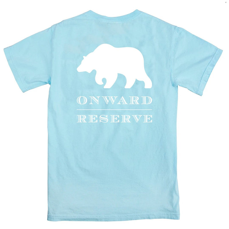 Rustic Bear Short Sleeve Tee - Chambray