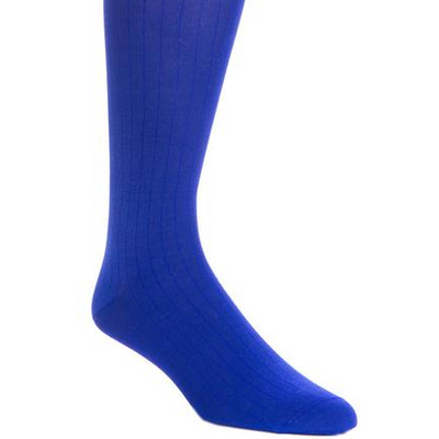 Solid Ribbed Cotton Mid-Calf Socks - OnwardReserve