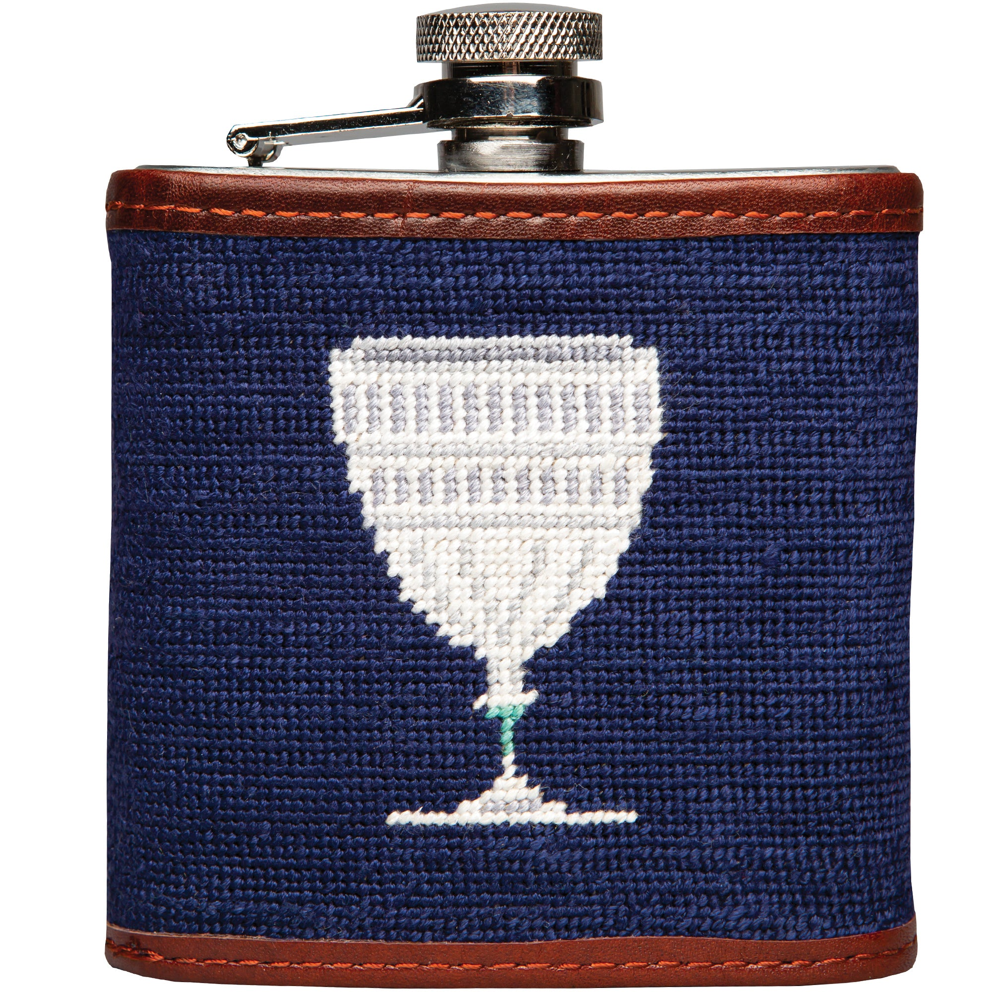 Capital Club Needlepoint Flask