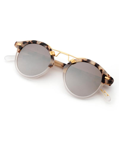 St. Louis Mirrored - Matte Oyster to Crystal 24k Polarized