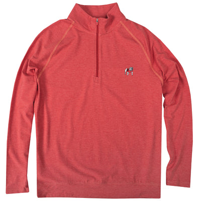 Standing Bulldog Bamboo Pullover - Red Heather