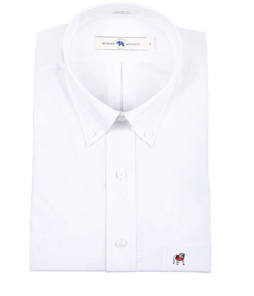 Standing Bulldog Classic Fit Stretch Cotton Button Down