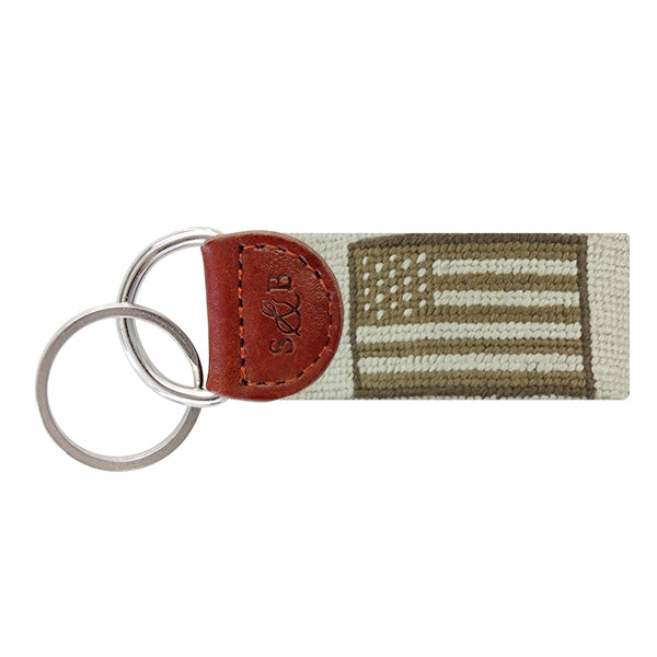 Armed Forces Flag Needlepoint Key Fob