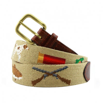Southern Sportsman Needlepoint Belt - Khaki