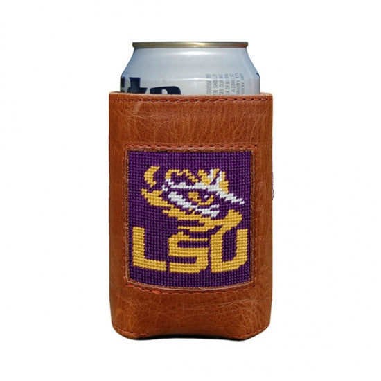 LSU Needlepoint Can Cooler - Onward Reserve