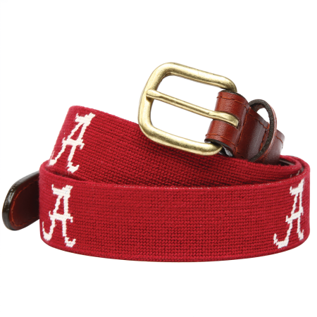 University of Alabama Needlepoint Belt