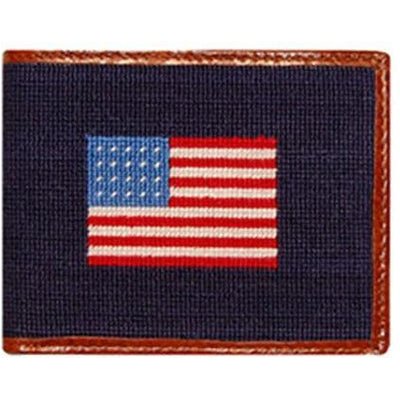American Flag Needlepoint Wallet - OnwardReserve