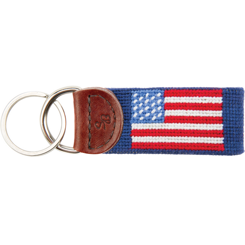 American Flag Needlepoint Key Fob - OnwardReserve