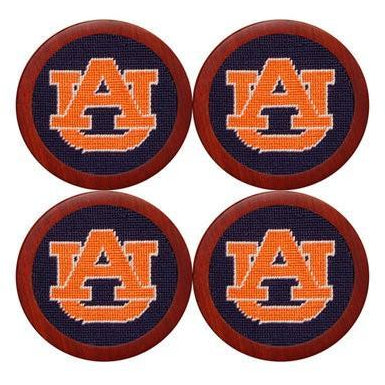 Auburn Needlepoint Coasters - OnwardReserve