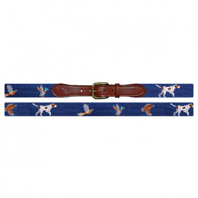 Bird Dog Needlepoint Belt