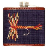 Trout & Fly Needlepoint Flask - Onward Reserve