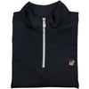 UGA Bulldog Head Performance 1/4 Zip in Black - Onward Reserve