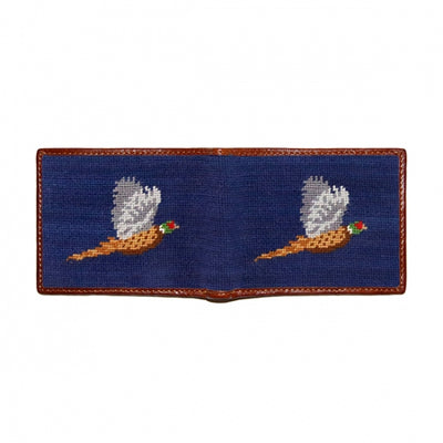 Pheasant Needlepoint Bi-Fold Wallet - OnwardReserve