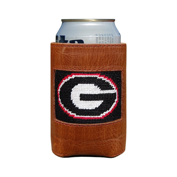 UGA Needlepoint Can Cooler