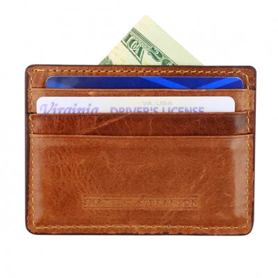Trout Needlepoint Credit Card Wallet
