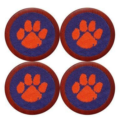 Clemson Needlepoint Coasters - OnwardReserve