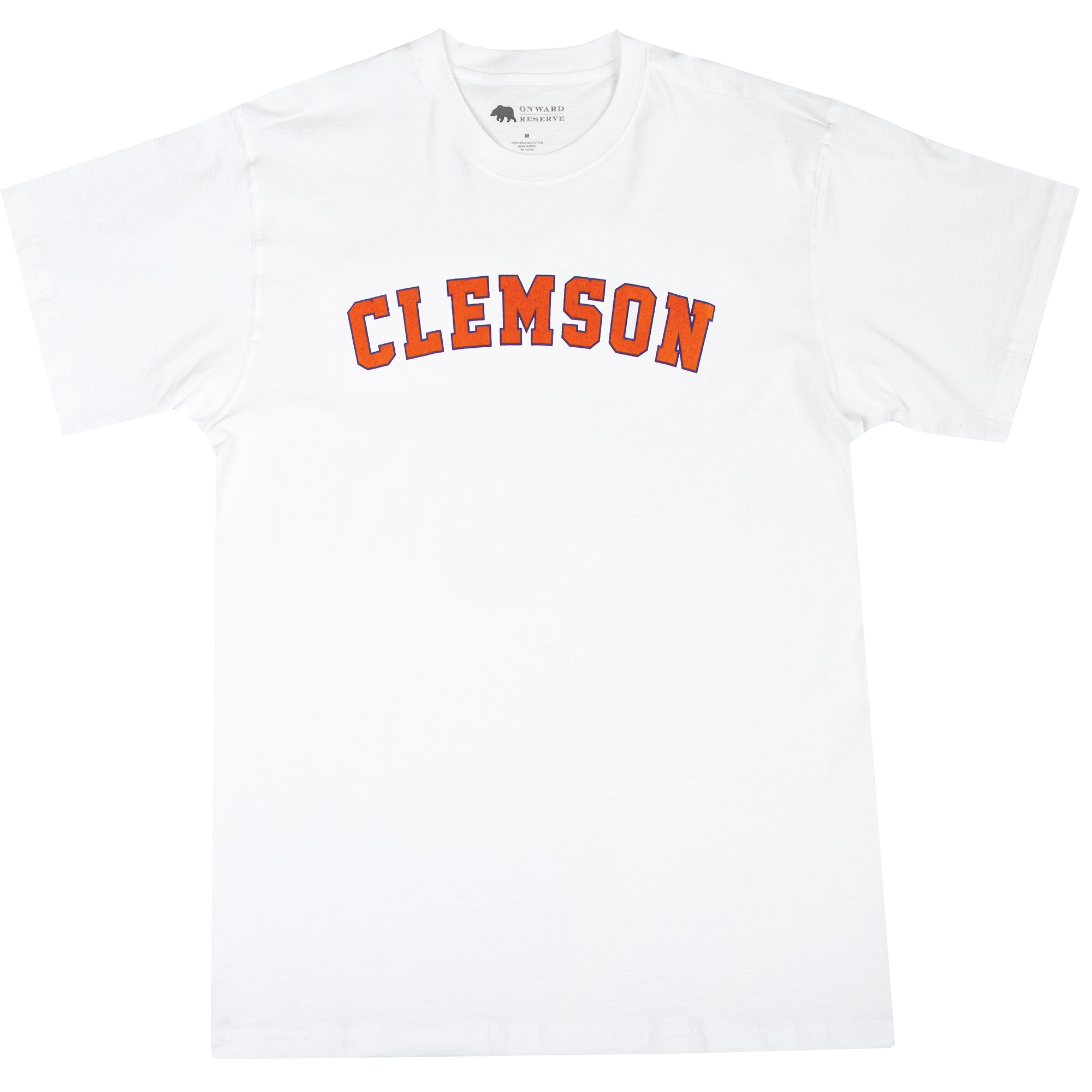 Clemson Flocked Collegiate Short Sleeve Tee