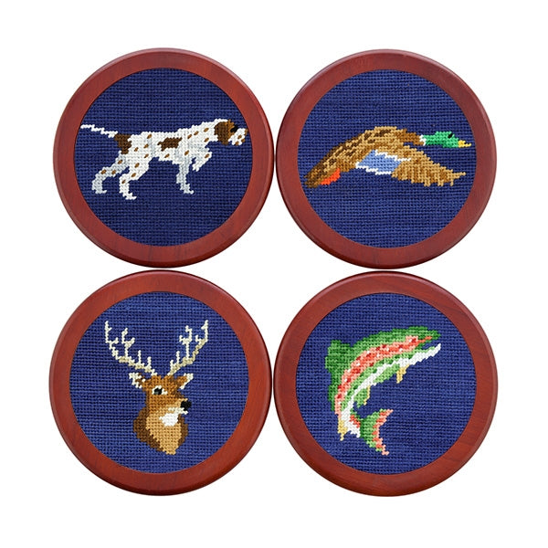 Southern Sportsman Needlepoint Coasters