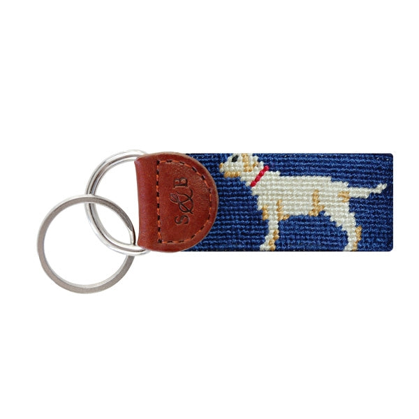Yellow Lab Needlepoint Key Fob - OnwardReserve