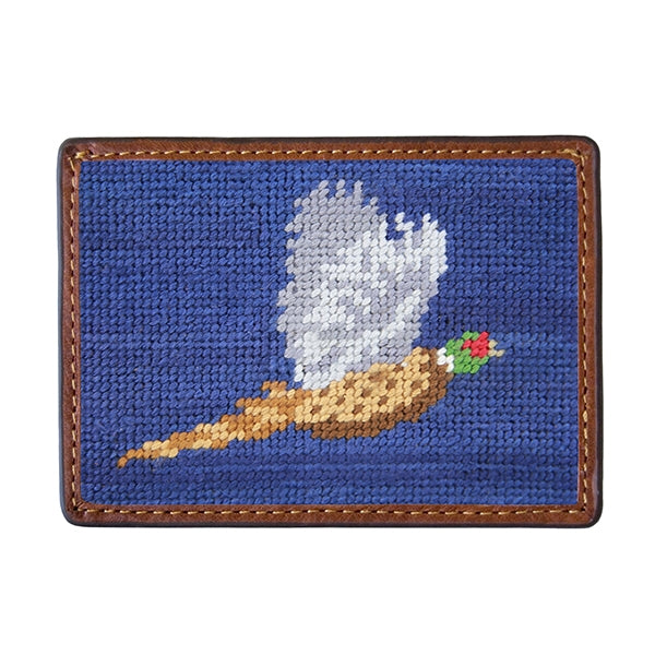 Pheasant Needlepoint Credit Card Wallet - Onward Reserve