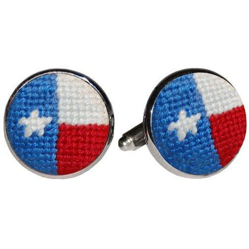 Texas Flag Needlepoint Cufflinks