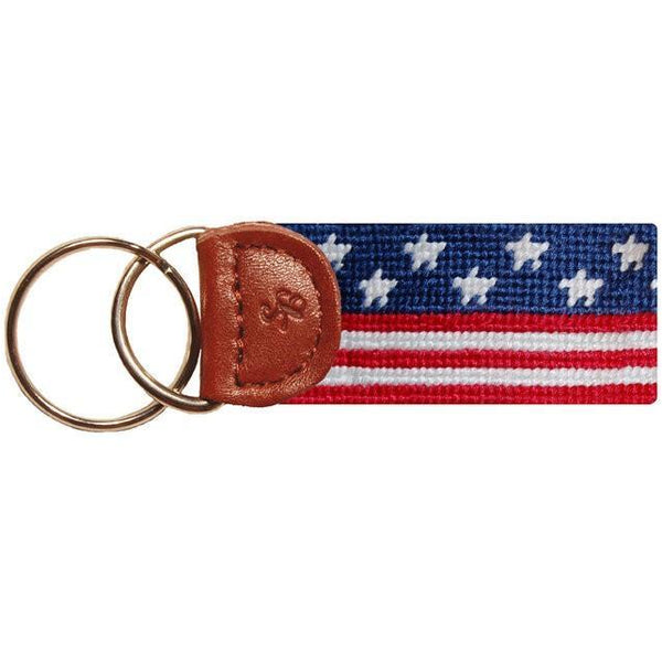 Old Glory Needlepoint Key Fob