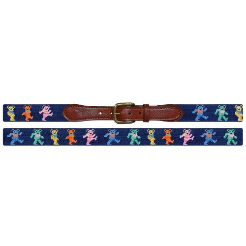 Dancing Bears Needlepoint Belt - OnwardReserve