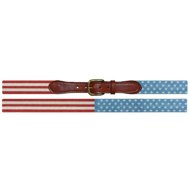 Stars & Stripes Needlepoint Belt - OnwardReserve