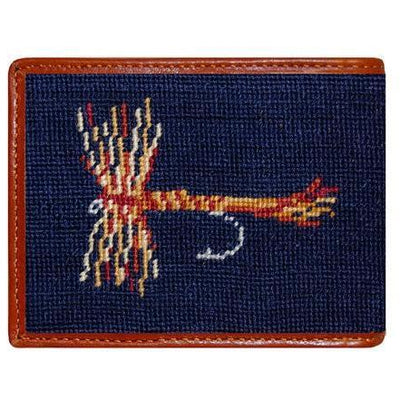 Trout and Fly Needlepoint Wallet - OnwardReserve