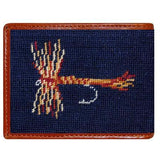 Trout and Fly Needlepoint Wallet