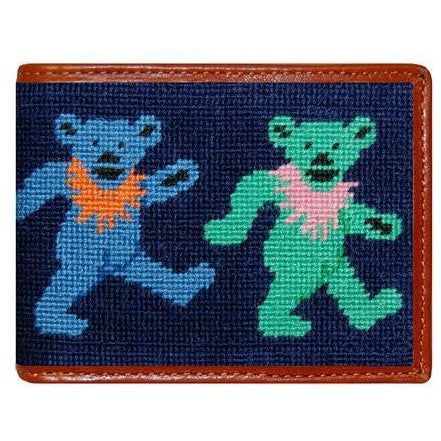 Dancing Bears Needlepoint Wallet