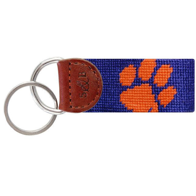 Clemson Needlepoint Key Fob - OnwardReserve