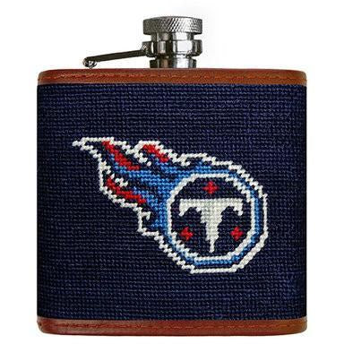 Tennessee Titans Needlepoint Flask