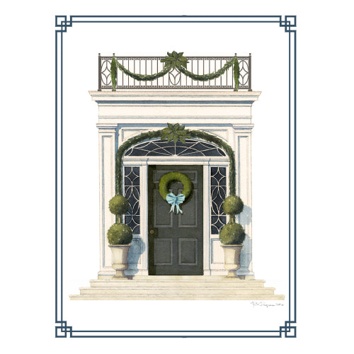 Holiday Door Note Card Set - Onward Reserve