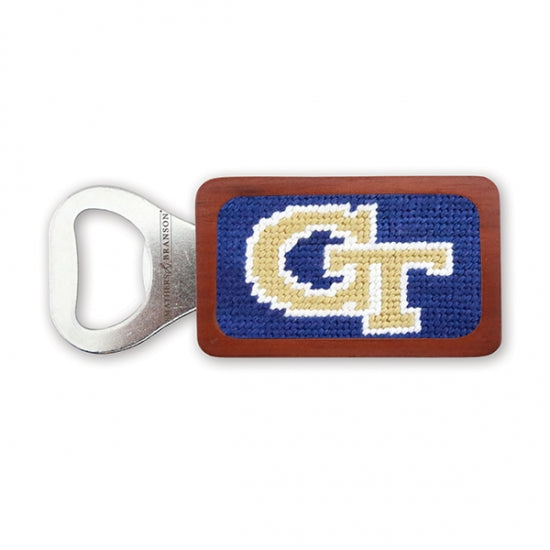 Georgia Tech Needlepoint Bottle Opener - Onward Reserve