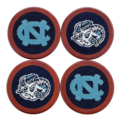 UNC Needlepoint Coasters - Onward Reserve